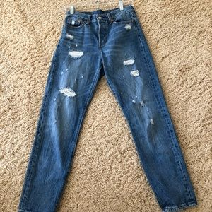 Levi's slightly ripped jeans